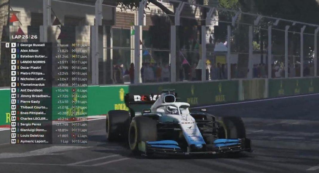 F1   George Russell vince il Virtual GP in Azerbaijan