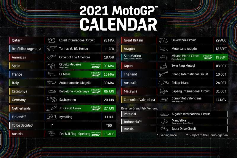 MotoE | Pubblicato il calendario provvisorio 2021
